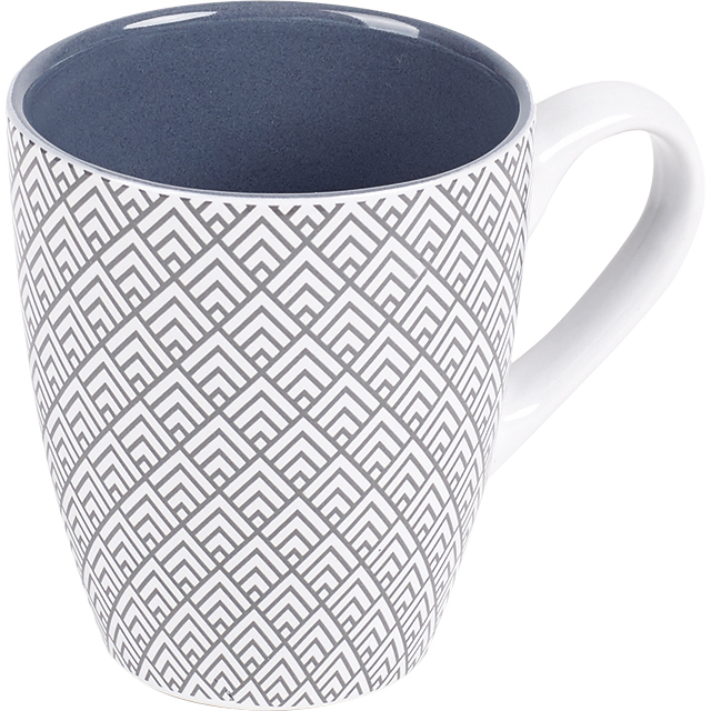 Mug céramique décor gris