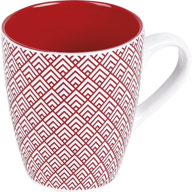Mug céramique décor rouge